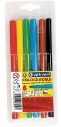 Фломастеры Colour World, 6 штук