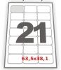 Самоклеющаяся бумага А4 со скругленными углами 21 штука 63,5х38,1, 100 л.
