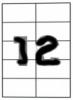 Бумага самоклеющаяся А4 12 шт. 70x67.7 mm 100 листов