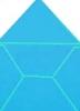 Готовый конверт из дизайнерской бумаги голубой 150 x 150