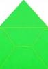 Готовый конверт из дизайнерской бумаги салатовый 150 x 150