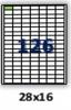 Бумага самоклейка А4 126 штук 28х16, 100 л.