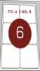 Самоклеющаяся бумага А4 Киев 6 штук 70х148,4, 100 л.
