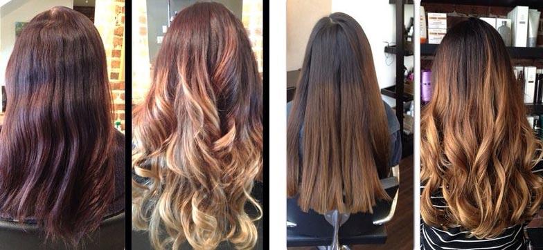 блондирование волос фото до и после: